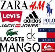Fardos de ropa de marca