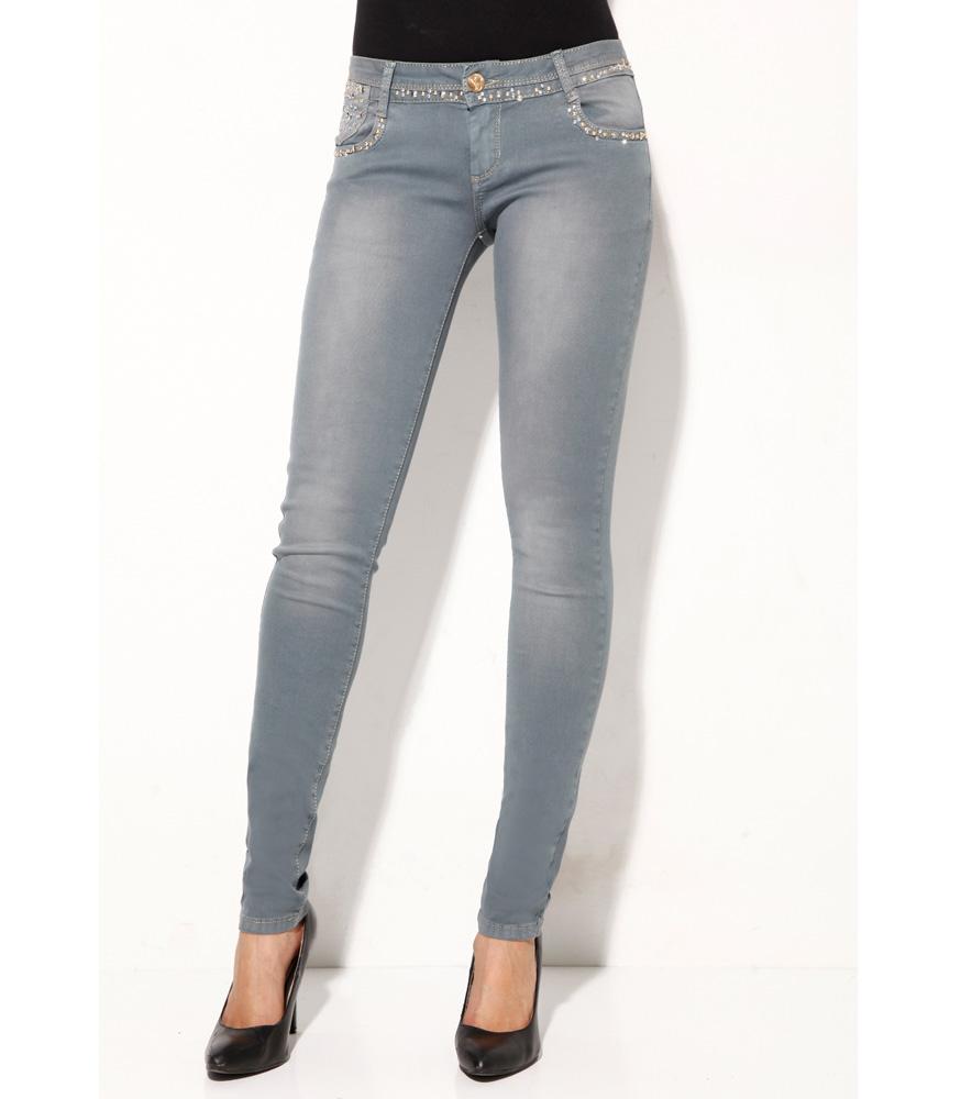 Pantalón Jeans Pitillo Mujer #1 PREMIUM